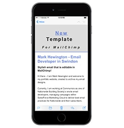 Editable MailChimp Email Template Iphone6+