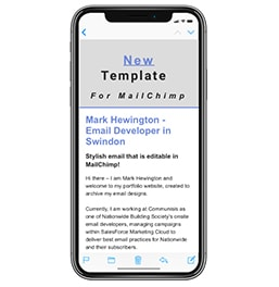 Editable MailChimp Email Template for iPhone X and iPhone 8