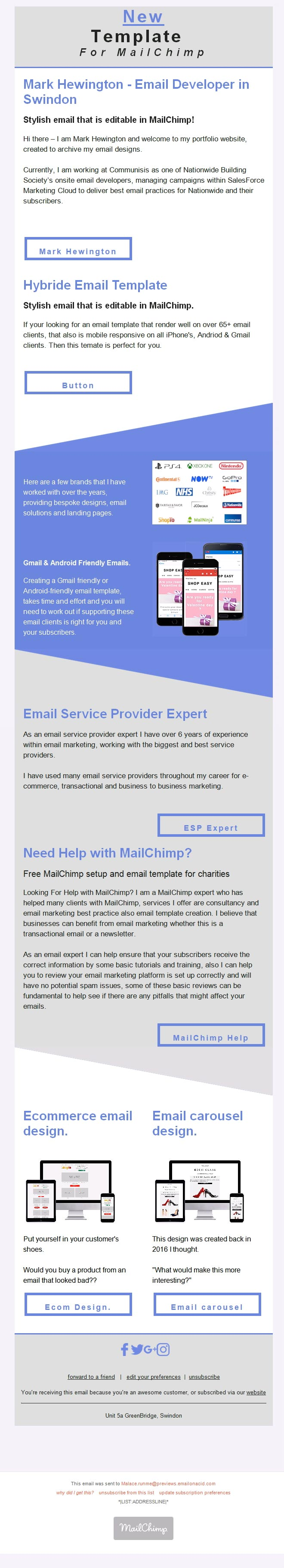 Outlook 2010 Windows 7 Editable MailChimp Emails