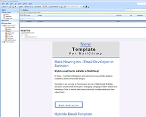 Editable MailChimp Email Template for  Outlook 2007 Windows 7