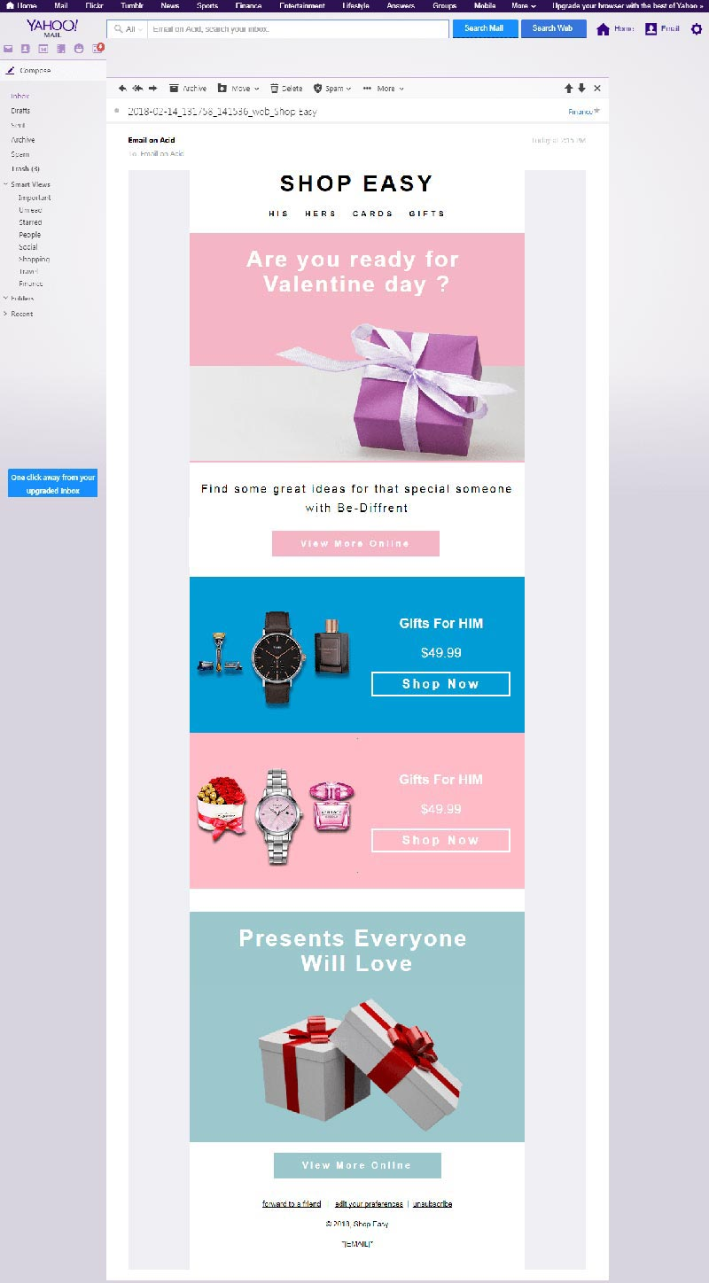 Gmail & Android Friendly Email template design for Yahoo email clients