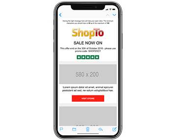 E-commerce email for iPhone X and iPhone 8
