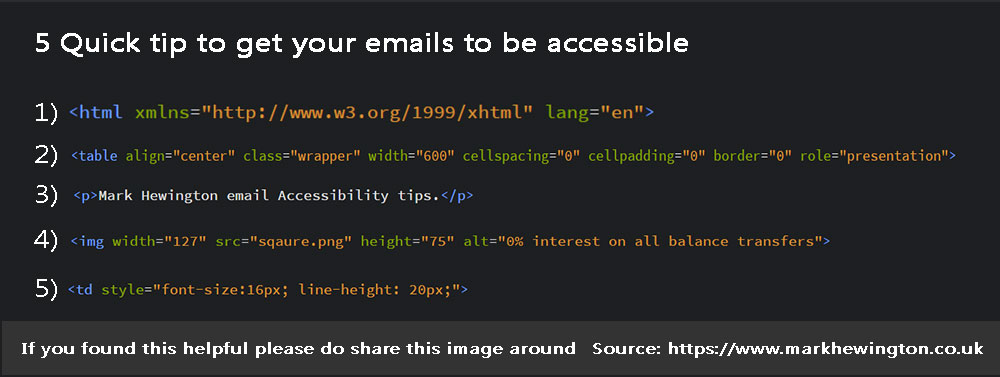 5 quick tips email accessibility